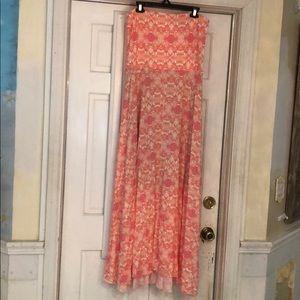 Victoria's Secret strapless maxi dress/skirt XL